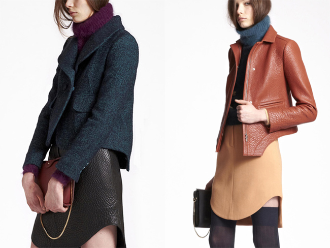 carven pre-fall 2013 mohair hand-knit turtleneck sweaters