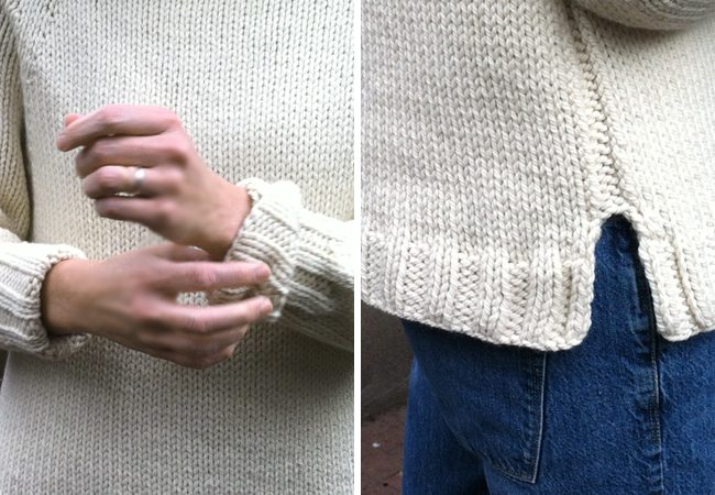 karen templer's almost perfect pullover pattern details