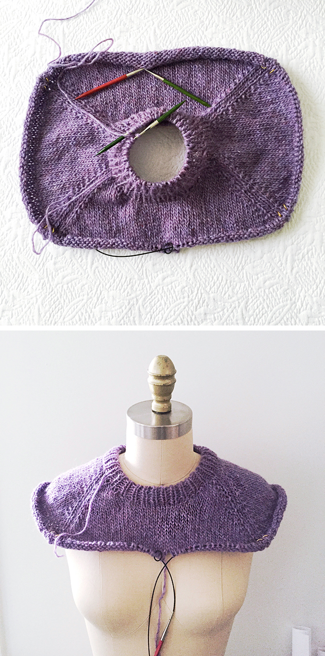 How to improvise a top-down sweater, Part 3: Finishing the neck and yoke
