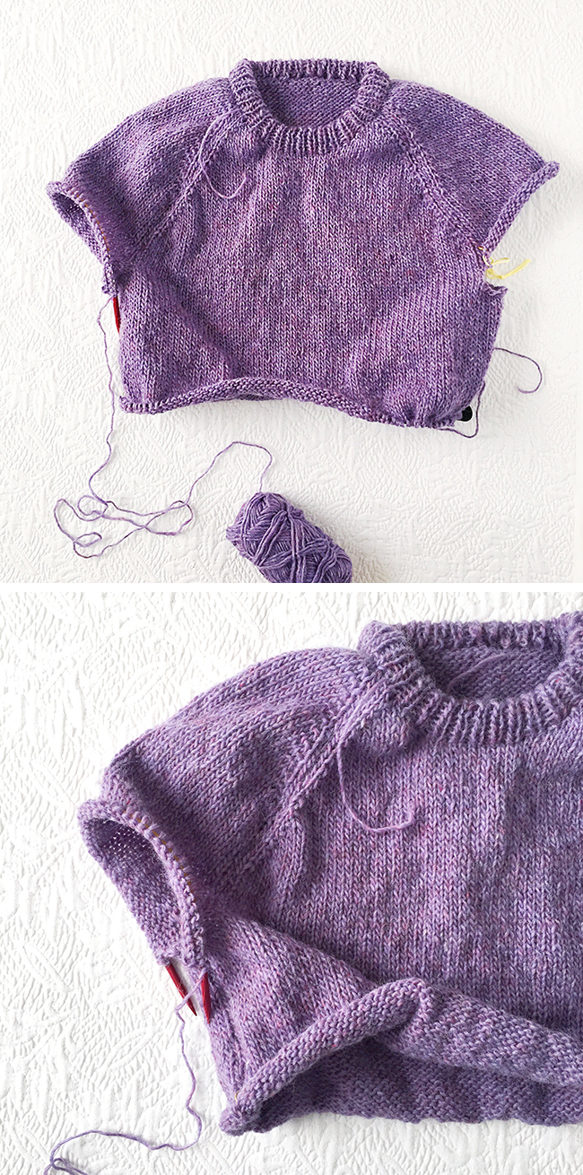 How to improvise a top-down sweater, Part 5: The art of sweater shaping