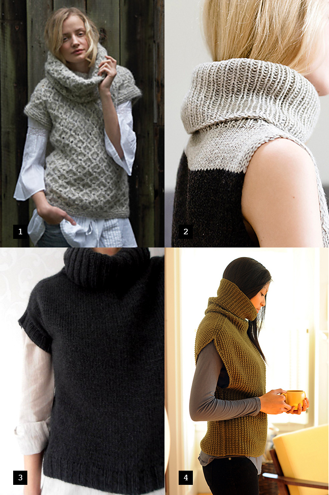best sleeveless turtleneck sweater knitting patterns