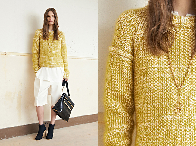 Chloe yellow marled sweater Resort 2014
