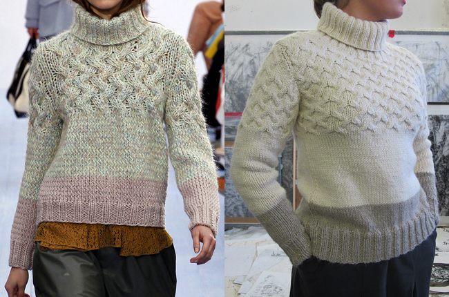How to knit our own Chloe sweater revisited