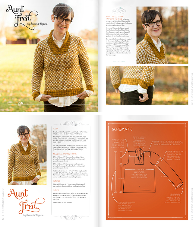 New Favorites: Aunt Fred sweater pattern by Pamela Wynne