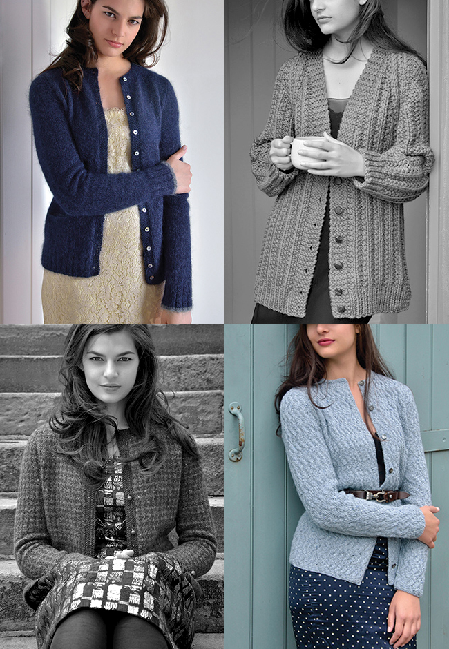 New Favorites: Kim Hargreaves cardigan patterns