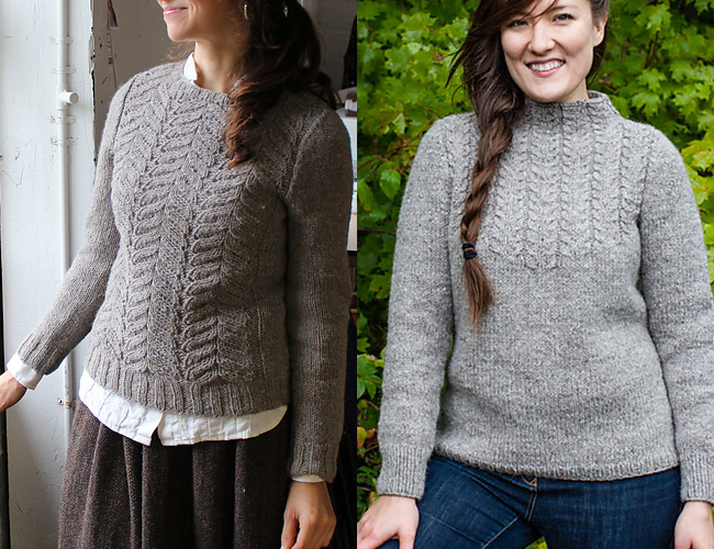 Amy Christoffers' cable sweater knitting patterns
