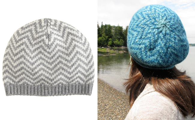 Knit your own J.Crew chevron beanie — free pattern