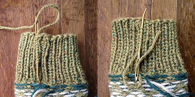 How to weave in ends in ribbing