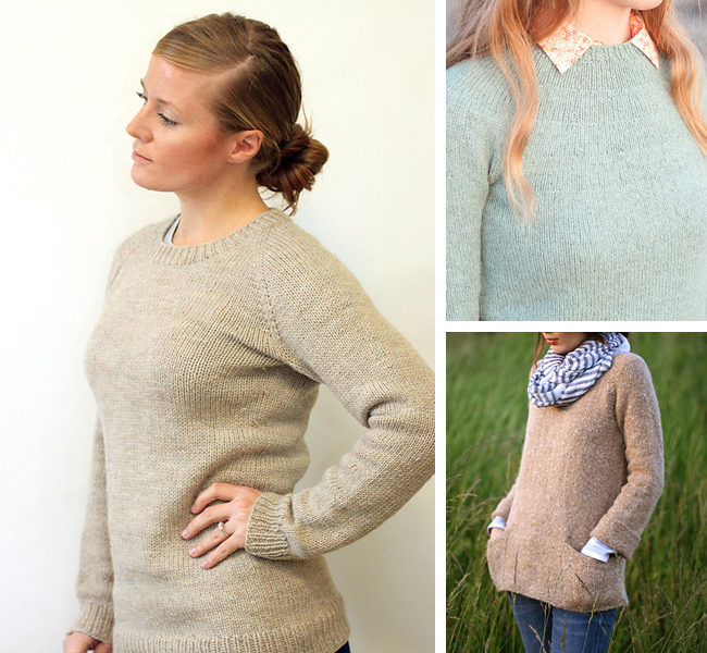 bbdb0b94af9d1e Top-down sweater knitting patterns for first-timers