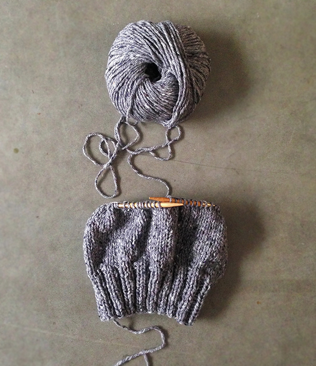 Hill Country Hat knitting in progress