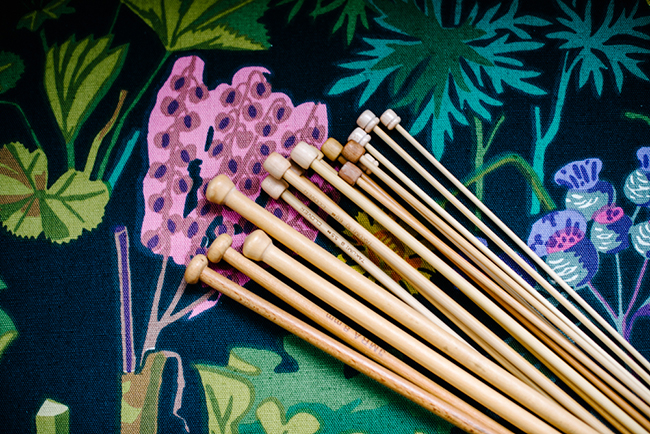 Lauren of Susk & Banoo wood knitting needles