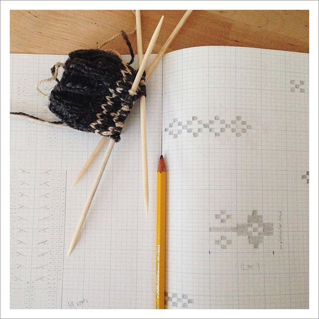 Knitters Graph Paper Journal in action