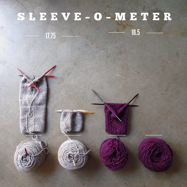 Tag Team Sweater Project : Sleeve-O-Meter