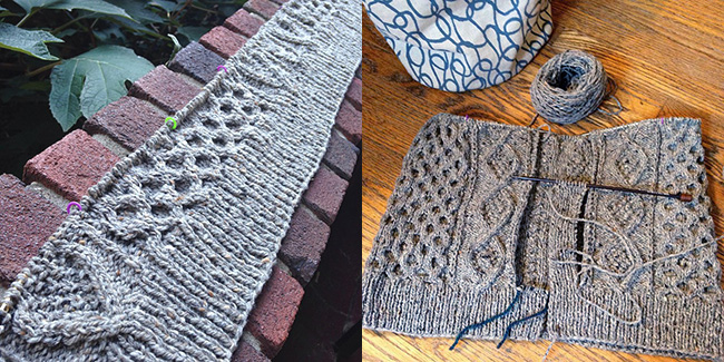 Amanda panel progress report: Let's see those sweaters!