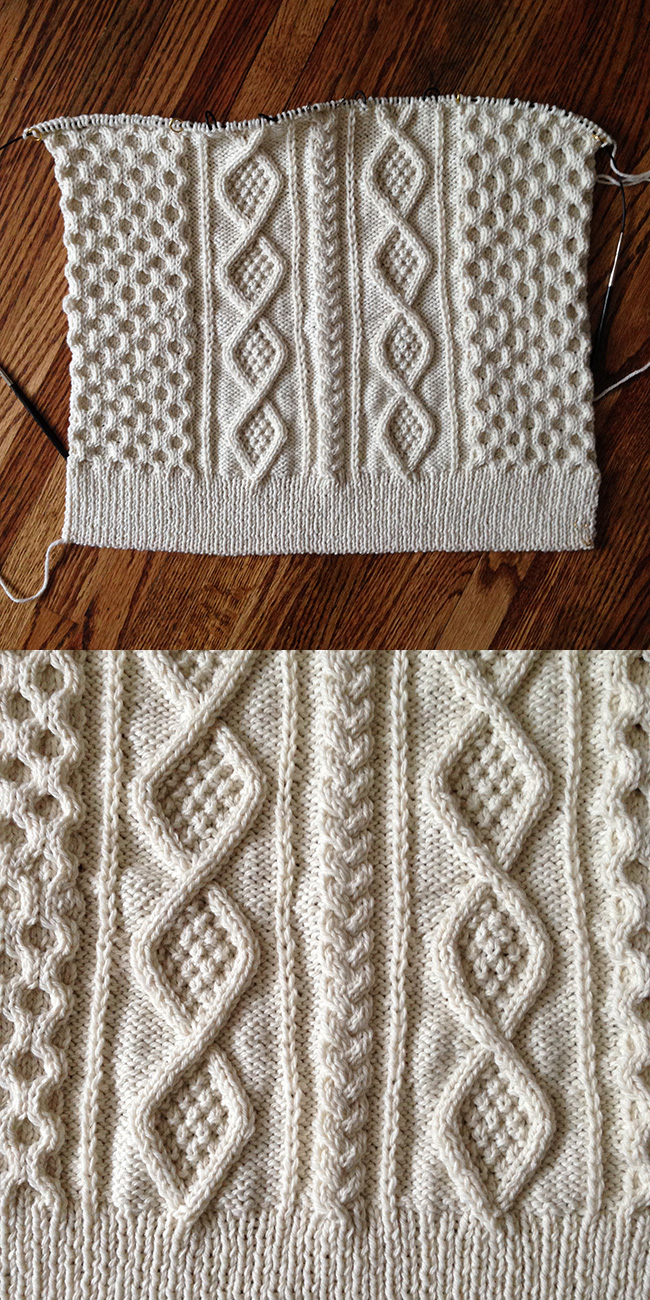 A different way to shape a sweater