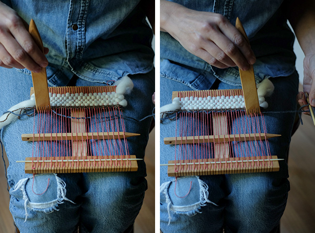 How to weave on a hand loom