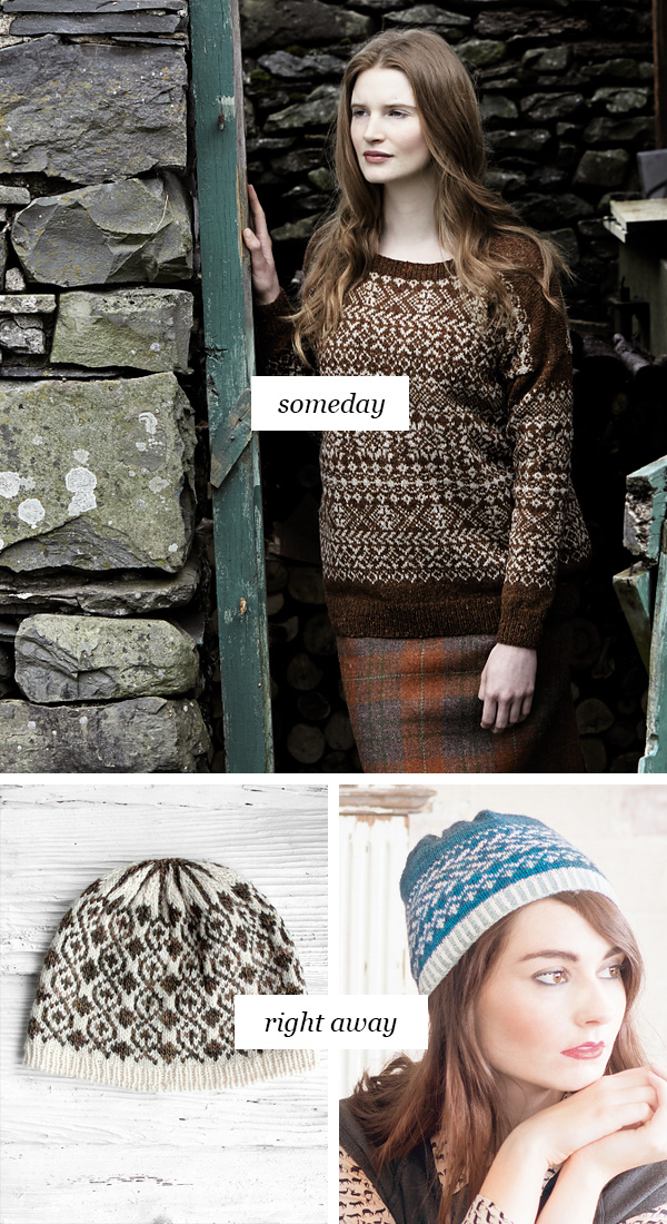 Someday vs. Right Away: Fair isle practice