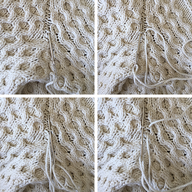 Basted knitting: Or, how (and why) to seam a seamless sweater