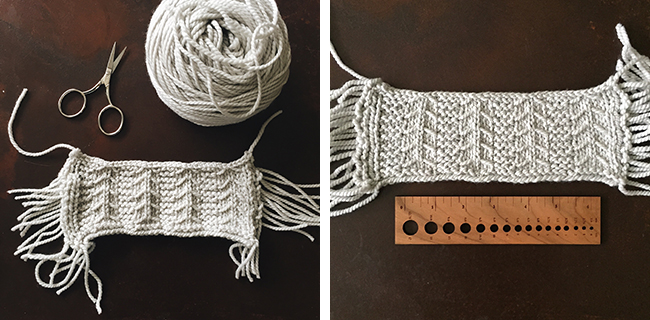 How to swatch for the L'Arbre Hat #fringehatalong