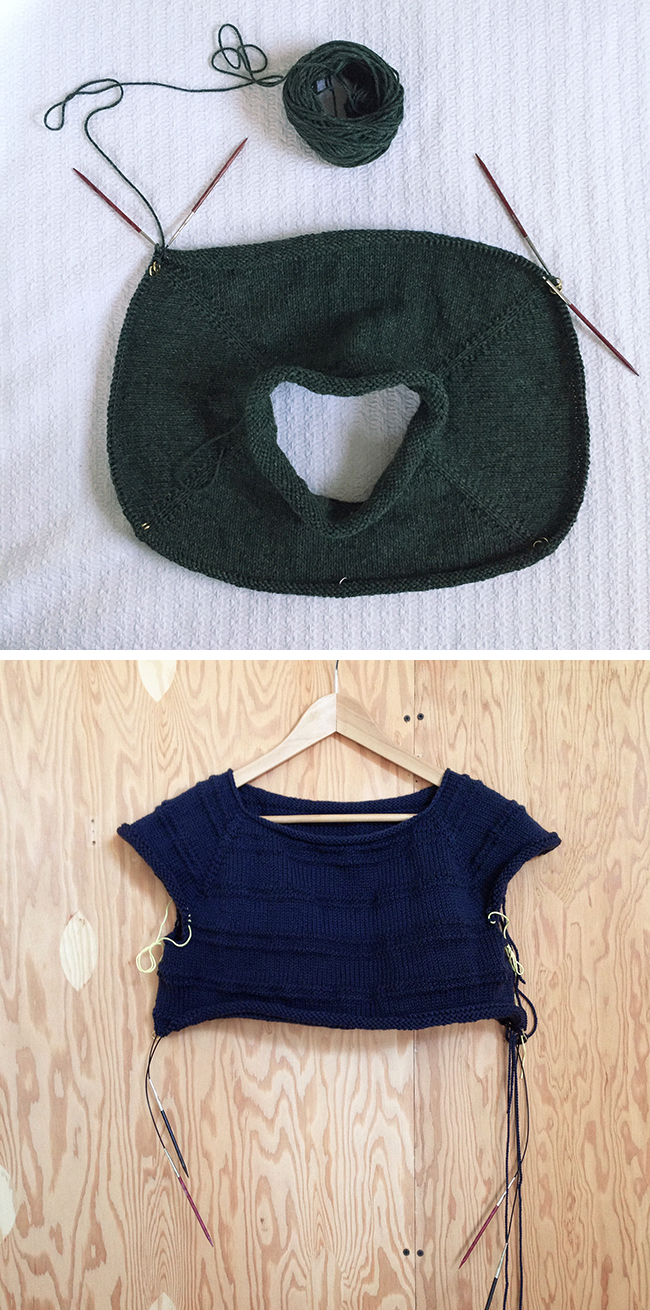Hot Tip: Easiest way to try on a top-down sweater