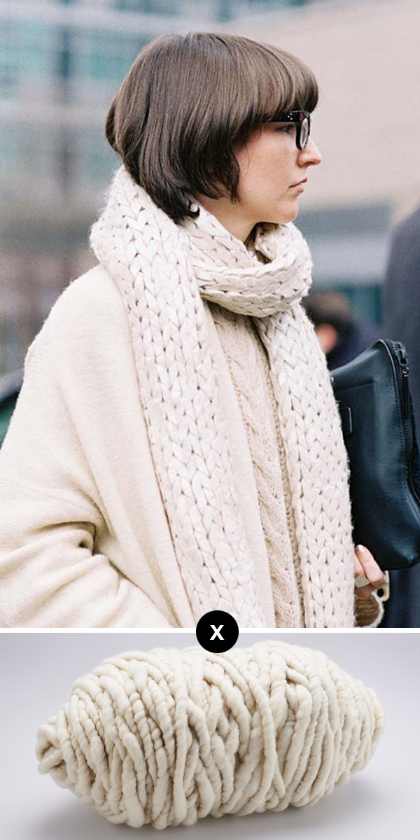 Knit the Look: Ultra-stockinette scarf