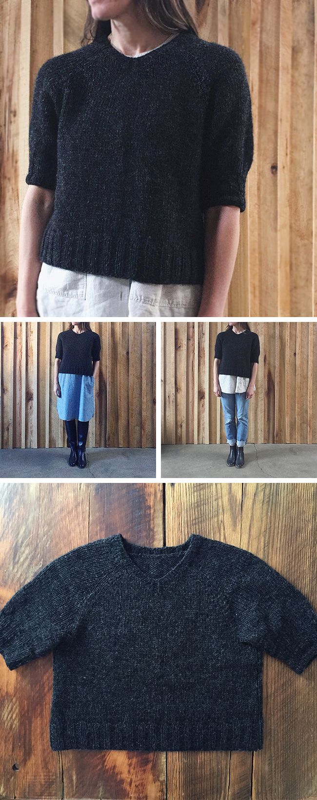 KTFO-2016.3 : Quick black raglan sweater recipe