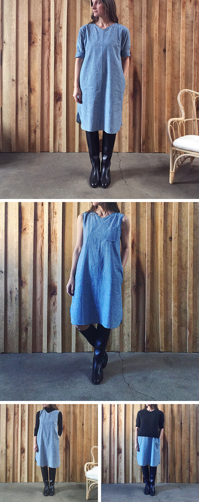 KTFO-2016.4 : Blue sleeveless dress details