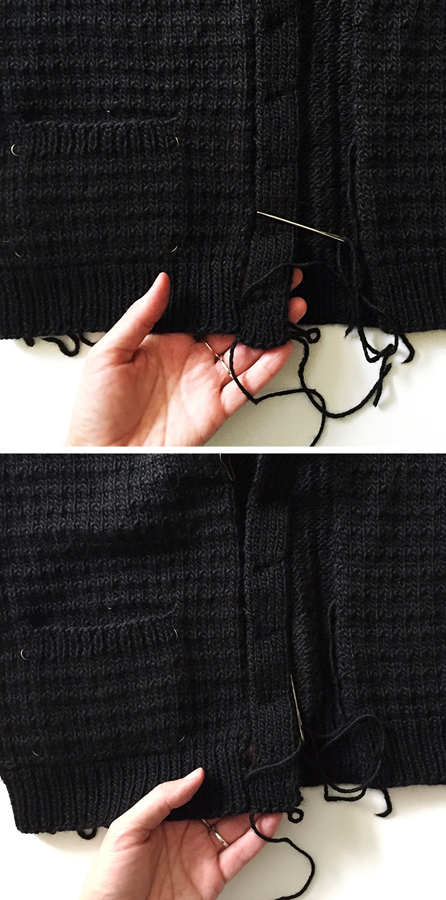 How to seam on a button band