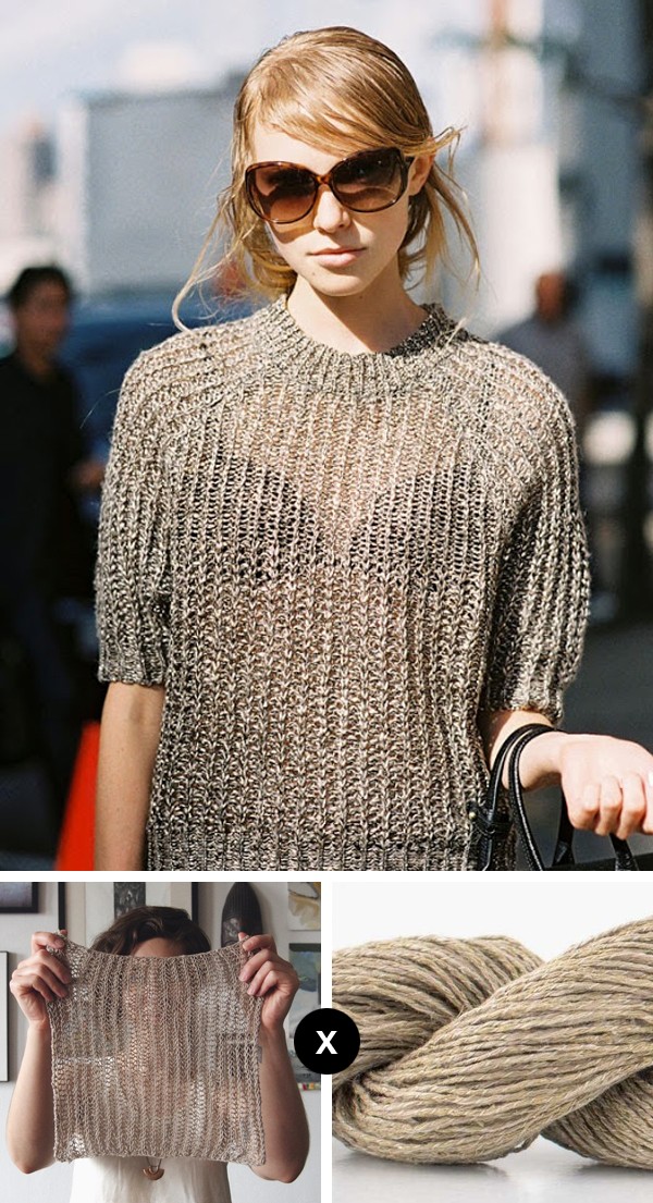 Knit the Look: Nastya Zhidkikh's sexy little pullover