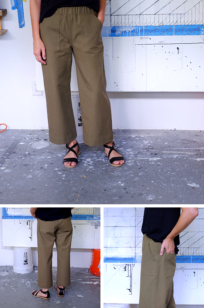 Finished: Olive pants (Summer of Basics)