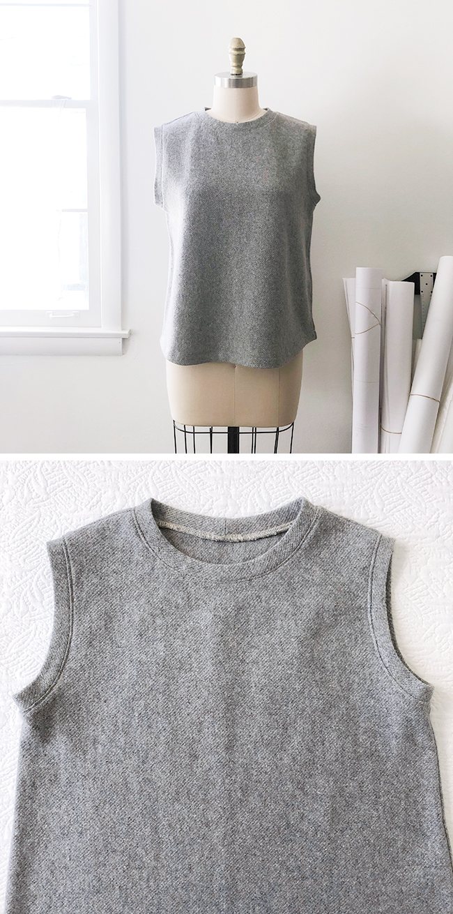 Finished : Wool muscle tee