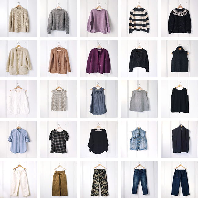 Deep Winter wardrobe: Closet inventory