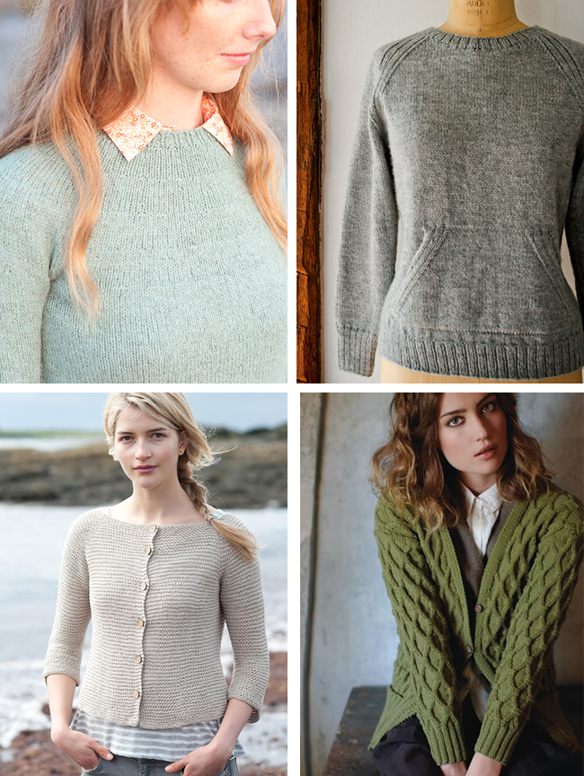 Introduction to sweater knitting: Construction types and starter patterns