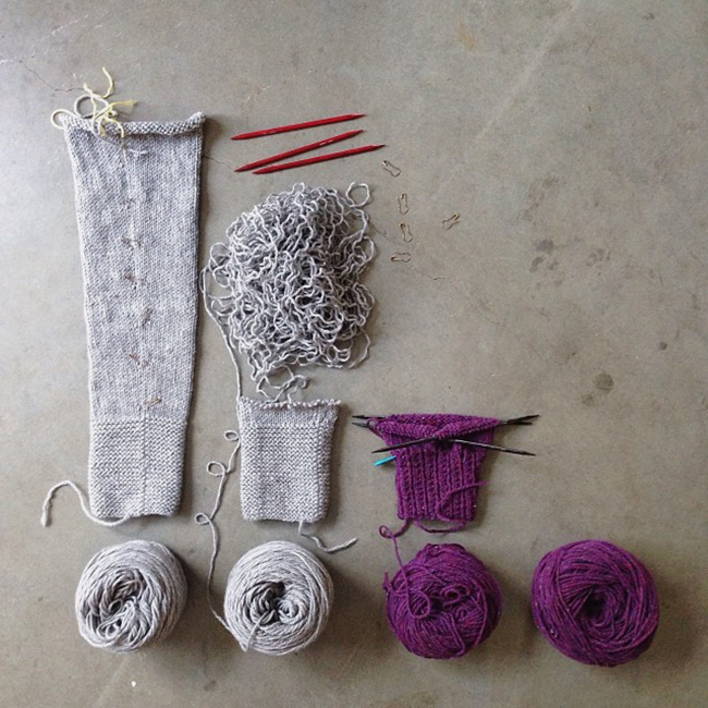 Q for You: Would you rather knit the sleeves or the body?