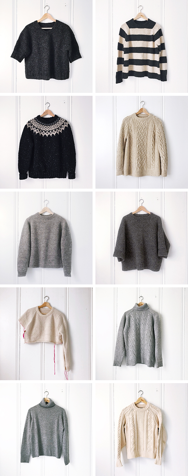Sweater inventory, part 3: The pullovers
