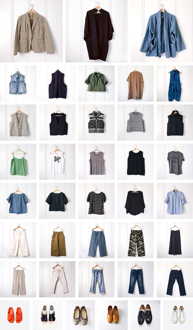 Not-quite Fall closet inventory