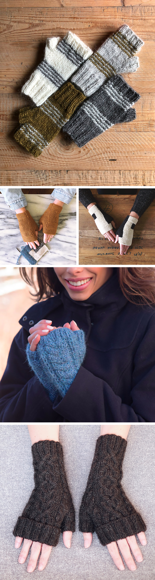 Quick Knits: Fingerless mitts (gift knitting ideas and free patterns)