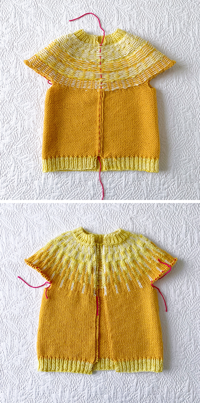 ece1c8b84 How to knit a miniature (Sólbein) cardigan