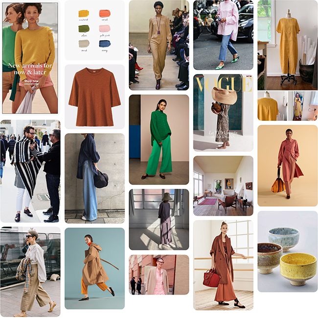 Wardrobe Planning: Latter 2019 (mood/palette)