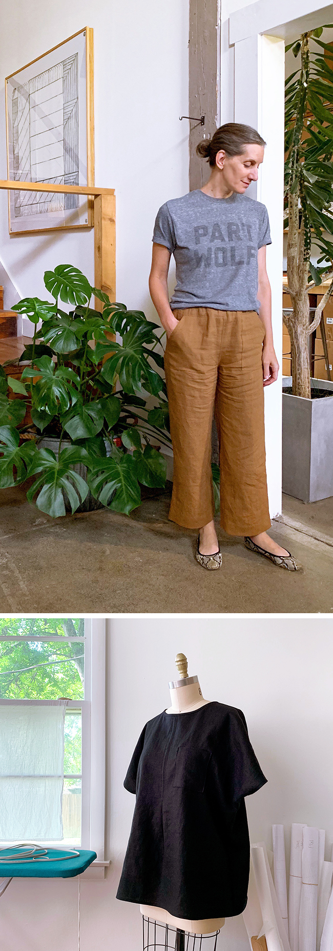 Linen pants! Plus Fen tunic, take two