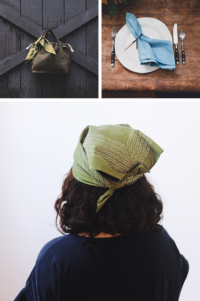 "Introducing the Fringe Supply Co. ""garter stitch"" bandanas!"