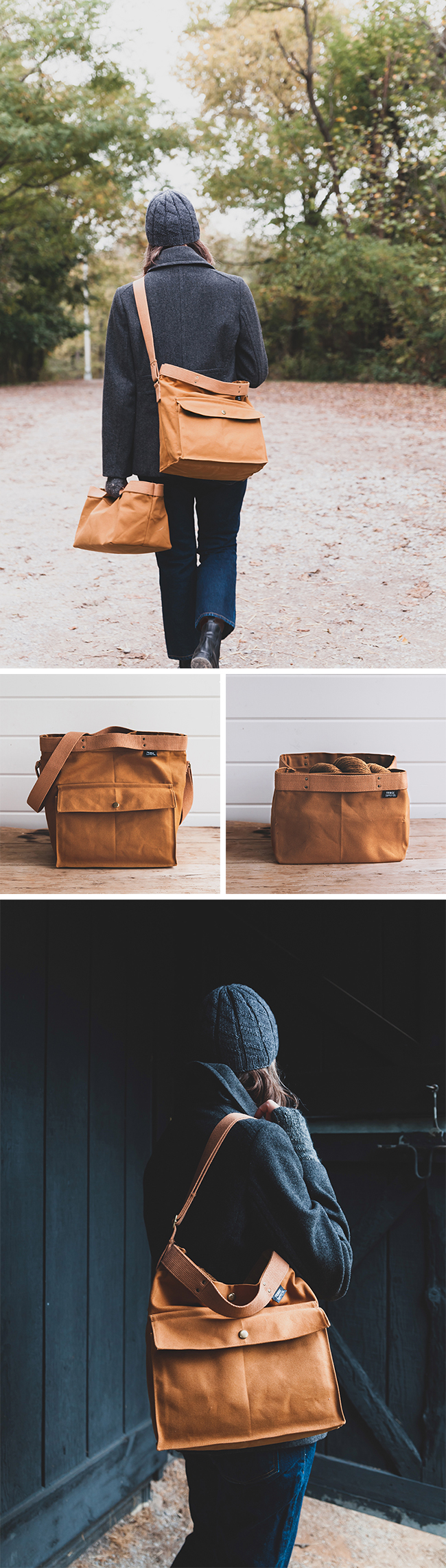 Fringe Supply Co. Rambler satchel and Porter Bin