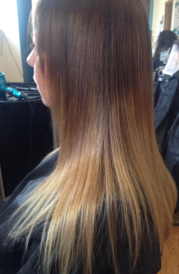 Ombre Hair Cut & Colour by Fringe Hair Salon Newquay