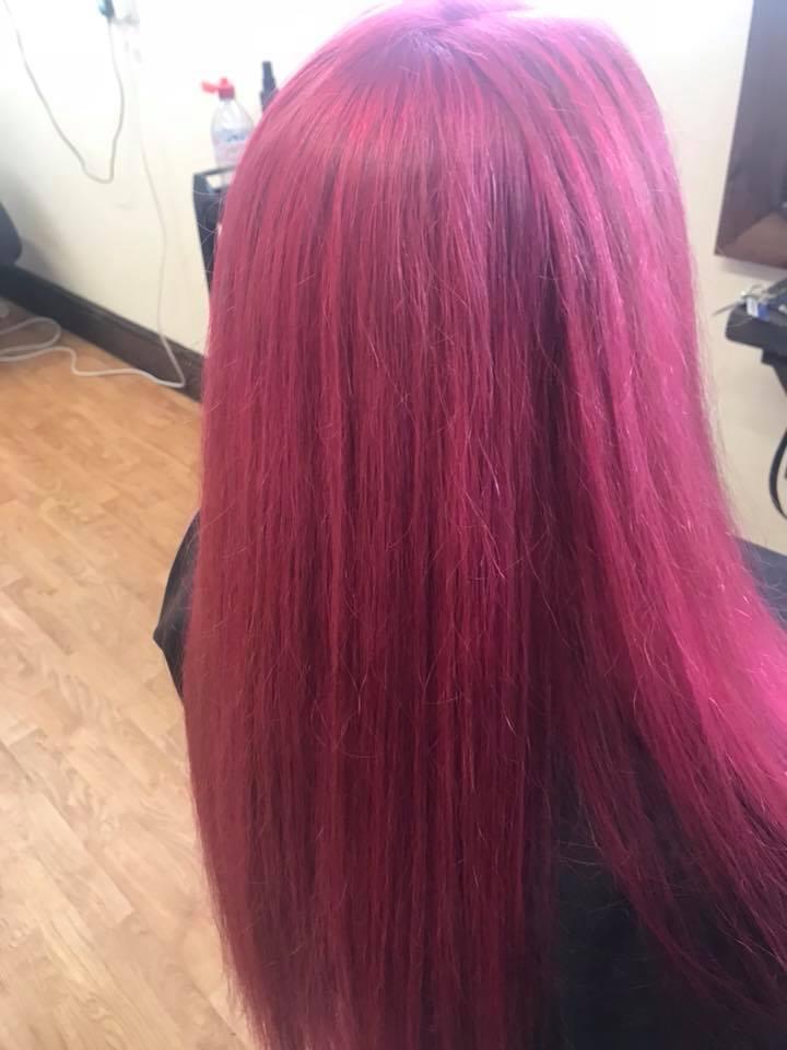 Red Hair Cut & Colour by Fringe Hair Salon Newquay