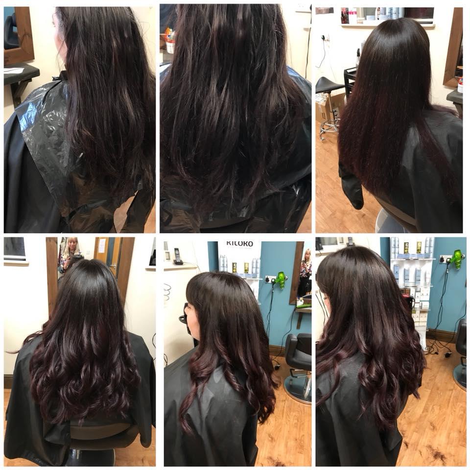 Hair Cut & Ombre Colour by Fringe Hair Salon Newquay
