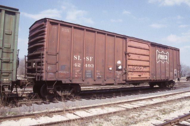 Boxcar 42493 at Topeka, Kansas on April 5, 1998 (R.R. Taylor)