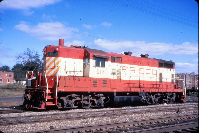 GP7 612 at Hoxie, Arkansas on October 23, 1972