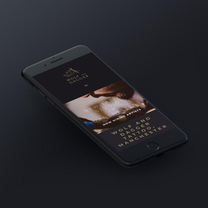 Black wolf tattoo phone app