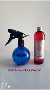 spray hydratant à la glycerine