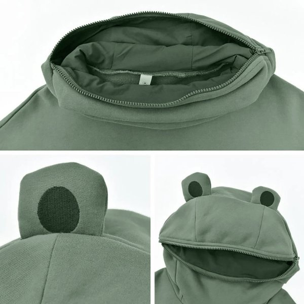 Oversized Hoodie Women Streetwear Casual Frog Printed Sweatshirt Women Winter Clothes Pullovers Tops Ropa De Mujer 2020 4